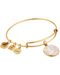ALEX AND ANI - Metallic Pink Special Delivery Charm Bangle - Lyst