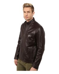 Cole Haan - Black Smooth Lamb Clean Moto for Men - Lyst