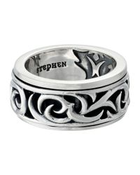 Stephen Webster | Metallic Thorn Rotating Band Ring for Men | Lyst