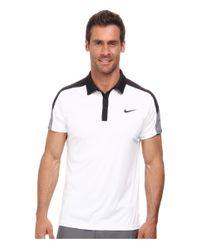 Nike | Black Team Court Polo for Men | Lyst