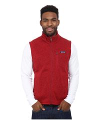 Patagonia | Red Better Sweater Vest for Men | Lyst