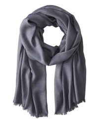 Love Quotes | Gray Rayon Eyelash Scarf | Lyst