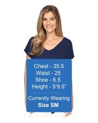 Allen Allen - Blue S/s V-neck Tee - Lyst