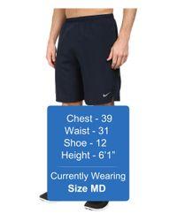 """Nike - Blue 9"""" Challenger Short for Men - Lyst"""