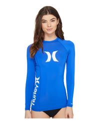 Hurley | Blue One & Only L/s Rashguard | Lyst