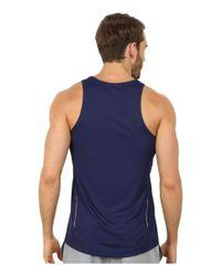 Asics - Blue Singlet for Men - Lyst