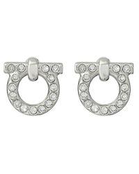 Ferragamo   Metallic Gancio Stud Earrings   Lyst