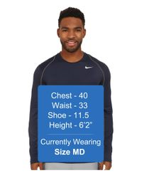Nike - Gray Pro Cool Fitted L/s for Men - Lyst