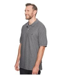 Nautica Gray Big Tall Anchor Solid Deck Shirt (grey Heather) Men's Short Sleeve Pullover for men