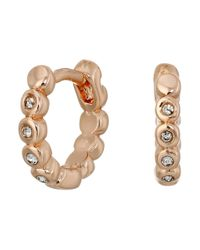 Vince Camuto | Pink Studded Mini Hinge Huggie Earrings | Lyst