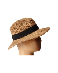 San Diego Hat Company - Natural Cth4117 Woven Yarn Stitch Fedora With Grosgrain Bow - Lyst