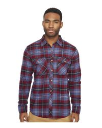 Brixton | Blue Bowery Long Sleeve Flannel for Men | Lyst