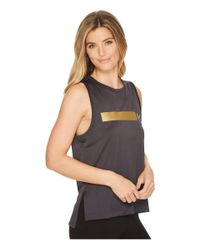 Under Armour Gray Perpetual Graphic Muscle Tank Top