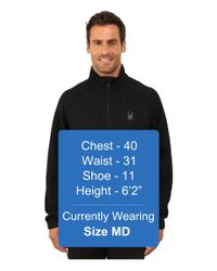 Spyder | Black Constant Full Zip Mid Weight Core Sweater for Men | Lyst