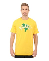 Under Armour - Blue Brazil Country Pride Tri-blend Short Sleeve Tee for Men - Lyst