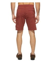 Prana Red Stretch Zion Short for men