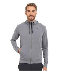 Nike | Gray Dri-fittm Fleece Full-zip Training Hoodie for Men | Lyst