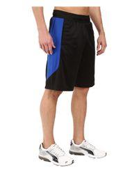 PUMA - Black Knit Colorblock Shorts for Men - Lyst