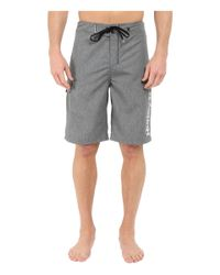 """Hurley - Black Heathered One & Only 22"""" Boardshorts for Men - Lyst"""