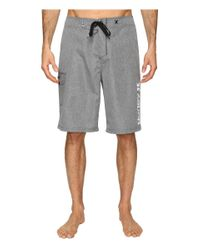 "Hurley | Gray Heathered One & Only 22"" Boardshorts for Men 
