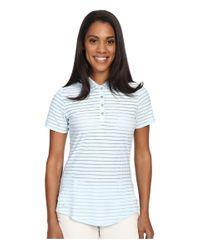 Adidas Originals - Blue Cottonhand Stripe Polo - Lyst