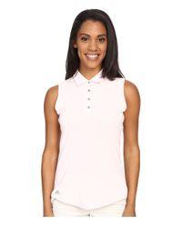 Adidas Originals - White Essentials Heather Sleeveless Polo - Lyst