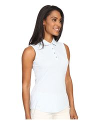 Adidas Originals - Blue Essentials Heather Sleeveless Polo - Lyst