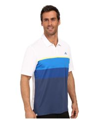 Adidas Originals - Blue Climacool® Engineered Stripe Polo for Men - Lyst