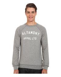 Altamont - Gray Non Game Crew Fleece for Men - Lyst
