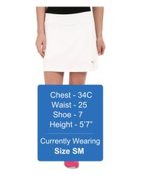 PUMA - White Solid Knit Skirt - Lyst