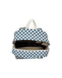 Vans - White Checkerboard Backpack - Lyst