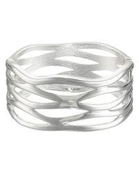 Robert Lee Morris   Metallic Cut Out Hinge Bangle Bracelet   Lyst