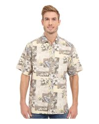 Tommy Bahama | Brown Plumeria Patchwork Tortola Silk Camp Shirt for Men | Lyst
