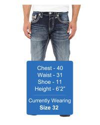 Rock Revival Blue Feeney J204 Straight Leg for men