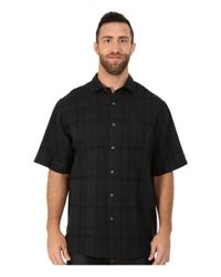 Tommy Bahama | Black Big & Tall Squarely There Camp Shirt for Men | Lyst