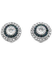 Lauren by Ralph Lauren | Metallic Vintage Crystal Stud Earrings | Lyst