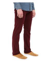 Rustic Dime - Brown Slim Fit In Vino Stretch Denim for Men - Lyst