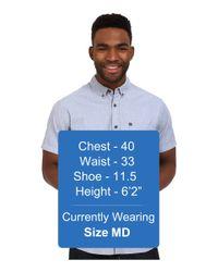 Quiksilver - Blue Wilsden Short Sleeve Woven Top for Men - Lyst