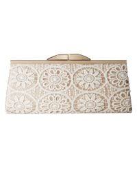 Jessica Mcclintock - Metallic Sloan Crochet Framed Clutch - Lyst