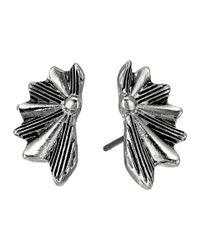 Sam Edelman | Multicolor Etched Fan Stud Earrings | Lyst