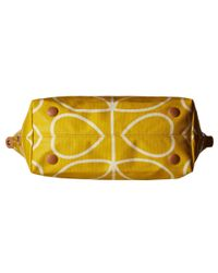 Orla Kiely - Yellow Giant Linear Stem Zip Shopper - Lyst