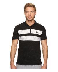 Nike | Black Court Dry Advantage Tennis Polo for Men | Lyst