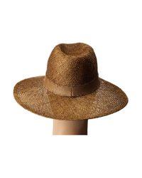Lauren by Ralph Lauren Brown Genuine Sisal Tonal Weave Sun Hat for men