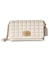 COACH - White Floral Rivets Crosstown Crossbody - Lyst