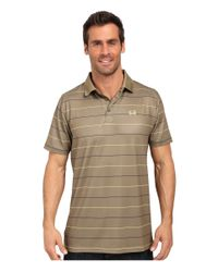 Cinch - Brown Athletic Tech Polo Striped for Men - Lyst