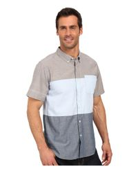 United By Blue - Green Kempston Color Block Short Sleeve Shirt for Men - Lyst