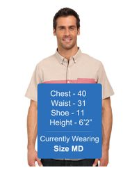 United By Blue - Brown Kempston Color Block Short Sleeve Shirt for Men - Lyst