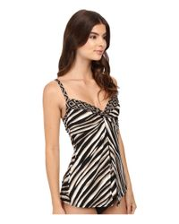Miraclesuit - Black Opposites Attract Love Knot Tankini Top - Lyst