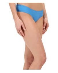Volcom - Blue Simply Solid Cheeky Bottom - Lyst
