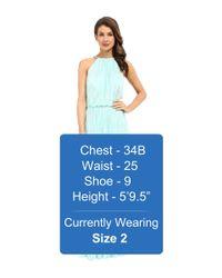 Calvin Klein - Green Halter Neck Gown Cd6b1u3n - Lyst